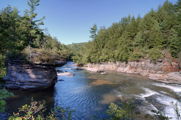 Swallow Falls State Park Wall Art - Photograph - View From Atop Swallow Falls by Gene Walls