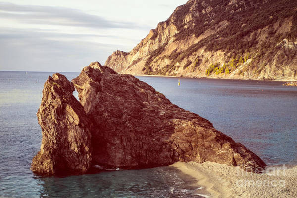 View From Beach Of Monterosso Art Print
