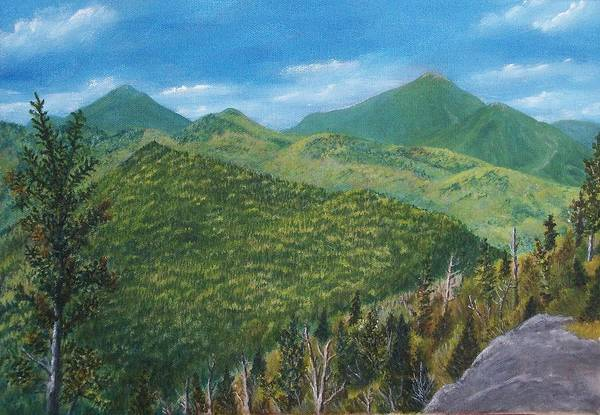Adirondack Mountains Painting - View From Big Slide Mountain by Gary Adams