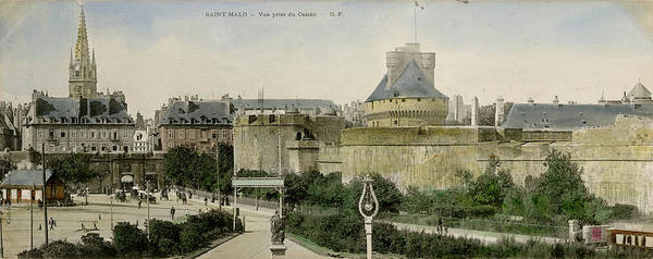 Wall Art - Photograph - View From Casino, Saint Malo, Brittany by Mary Evans Picture Library