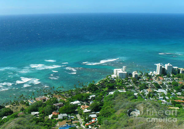 Photograph - View From Diamond Head In Hawaii Oahu by M Valeriano