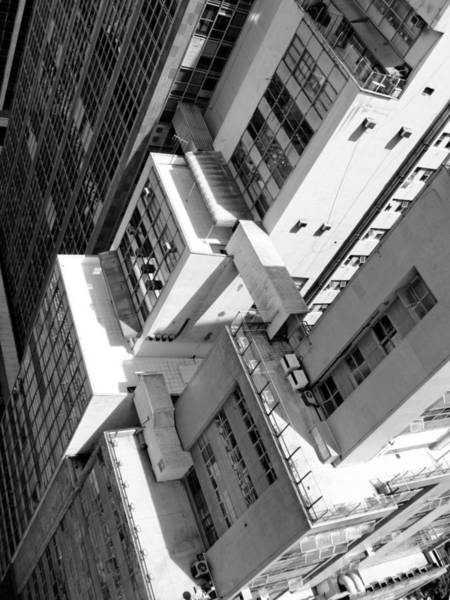 Wall Art - Photograph - View From Edificio Martinelli Bw - Sao Paulo by Julie Niemela