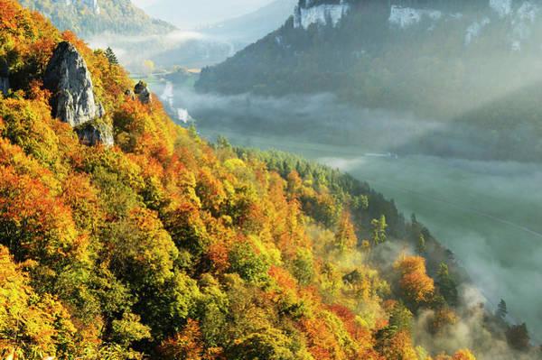 Danube Photograph - View From Eichfelsen Of The Donautal by Jochen Schlenker / Robertharding