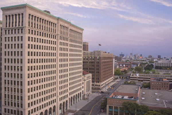 Fisher Center Photograph - View From Fisher Building  by John McGraw