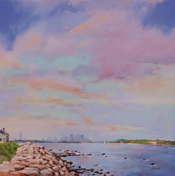 Ocean City Painting - View From Hull by Laura Lee Zanghetti