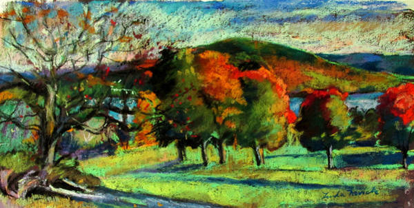 Painting - View From Kripalu Towards Lake Mahkeenac by Linda Novick
