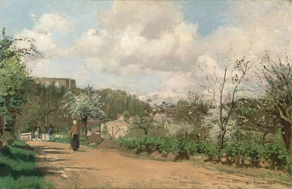 Impressionist Photograph - View From Louveciennes, 1869-70 Oil On Canvas by Camille Pissarro