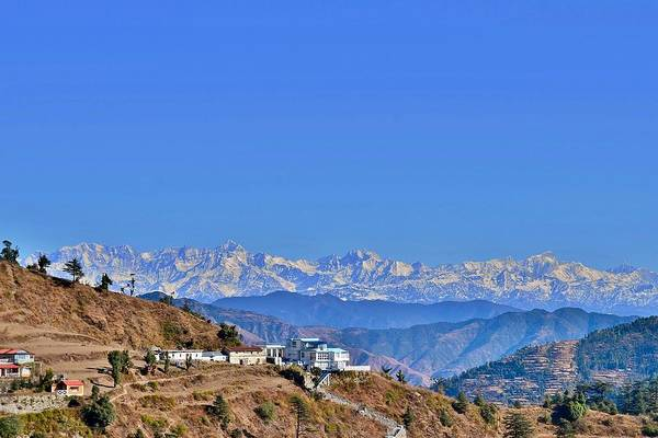 Bemis Photograph - View From Mussorie Road - Himalayas India by Kim Bemis