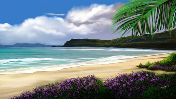 Wall Art - Digital Art - View From My Villa by Anthony Fishburne