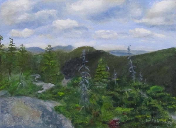 View From Noon Peak Art Print
