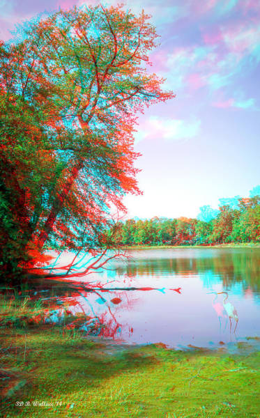 Anaglyph Photograph - View From Orchard Beach - Use Red_cyan Filtered 3d Glasses by Brian Wallace