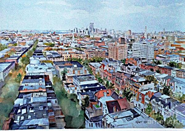 Painting - View From Penthouse Prospect Park West by Nancy Wait