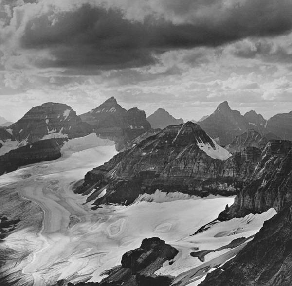 Photograph - T-303501-bw-view From Quadra Mtn Looking Towards Ten Peaks by Ed  Cooper Photography