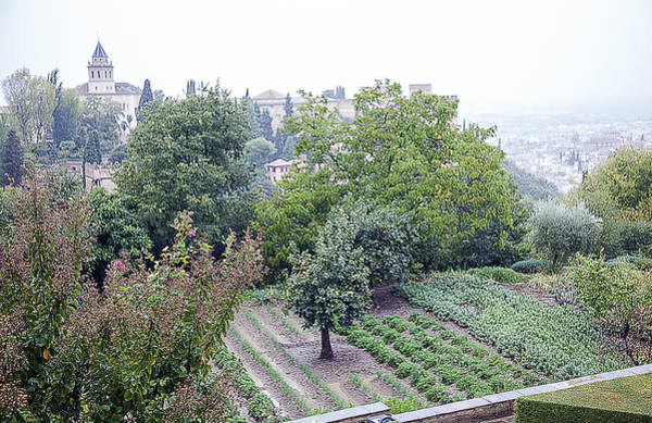 Wall Art - Photograph - View From San Nicolas On A Rainy Day - Granada - Spain by Madeline Ellis