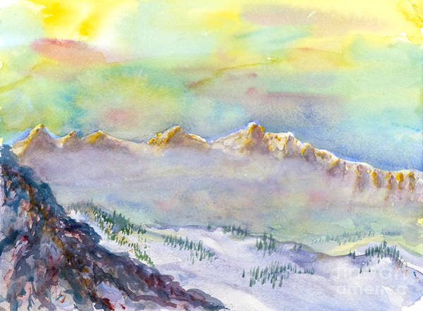 Painting - View From Snowbird by Walt Brodis