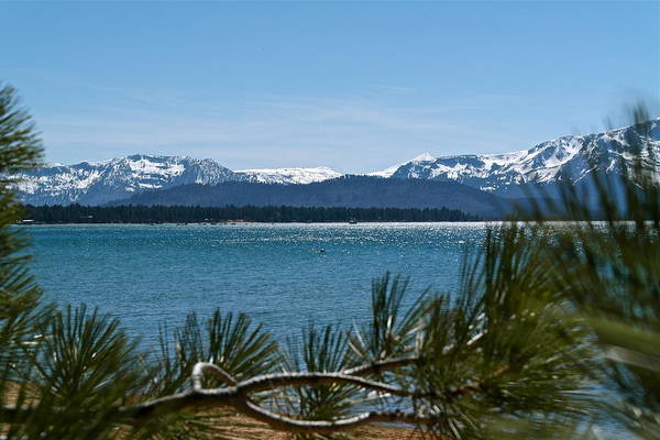 Photograph - View From South Shore Lake Tahoe by Michele Myers