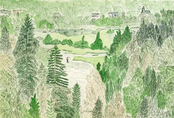 View From The Dam Art Print
