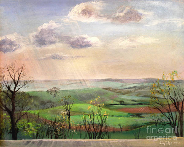 Painting - View From The Deck by Art By Tolpo Collection