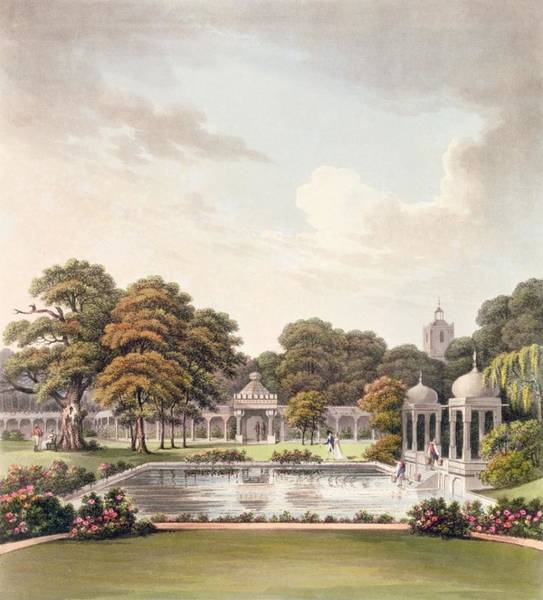 Wetland Drawing - View From The Dome, Brighton Pavilion by Humphry Repton