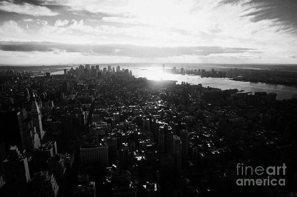 Reaching For The Sky Photograph - View From The Empire State Building Over Lower Manhattan New York City Usa by Joe Fox