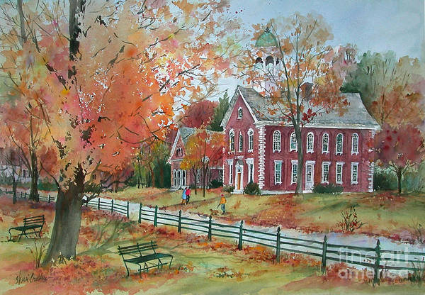 Courthouse Painting - View From The Green by Sherri Crabtree