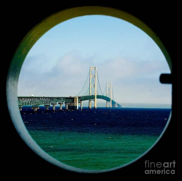 View From The Mackinac Light Art Print