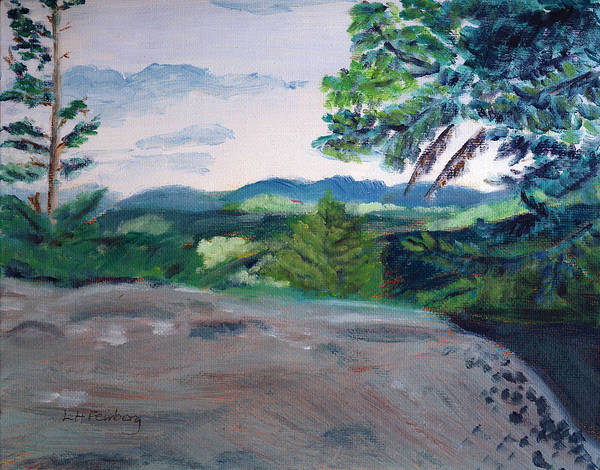 Painting - View From The Noon Peak Trail by Linda Feinberg
