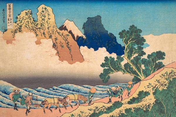 Thirty-six Views Of Mount Fuji Wall Art - Painting - View From The Other Side Of Fuji From The Minobu River by Katsushika Hokusai