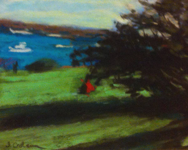Pastel - View From The Prom by Jane Croteau