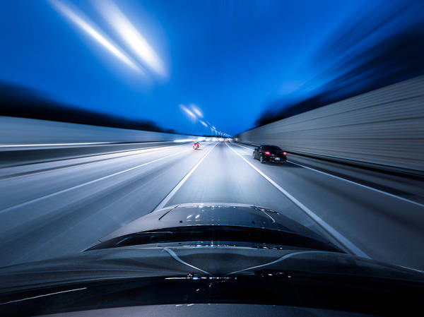 Point Of View Wall Art - Photograph - View From The Top Of A Car Driving Down by Darekm101