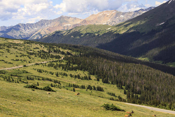 Photograph - View From The Trail Ridge Road. by Richard Smith