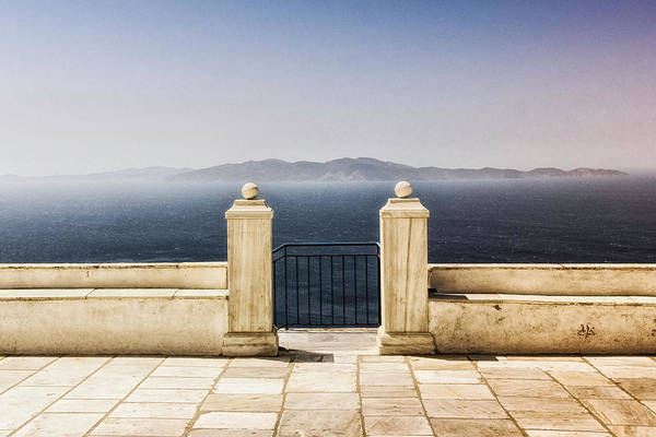 Tile Floor Wall Art - Photograph - View From Tinos by Photography Of Beauty And Mystery