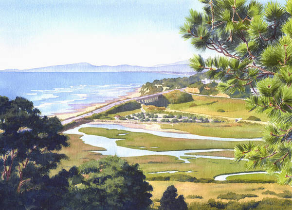 Wall Art - Painting - View From Torrey Pines Del Mar by Mary Helmreich