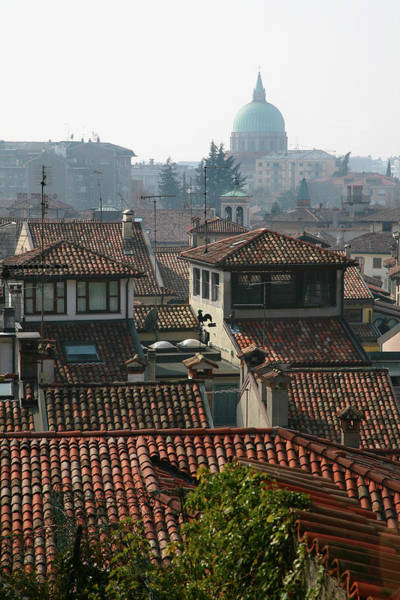 Ground Photograph - View From Udine Castle Grounds Over by Max Paoli