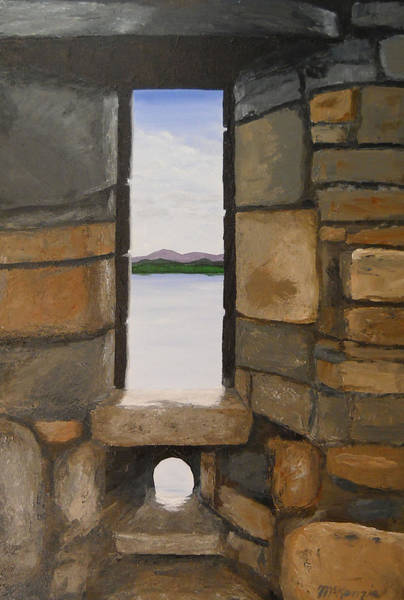 Eilean Donan Castle Painting - View From Urquhart Castle No3 by Robb McKenzie
