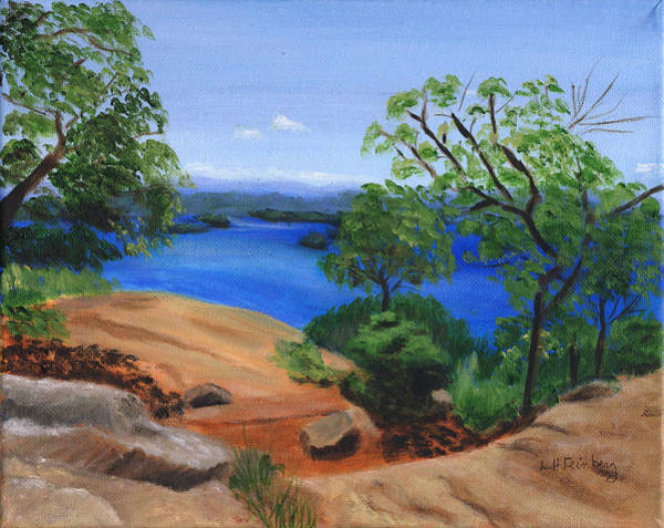 Painting - View From West Rattlesnake by Linda Feinberg