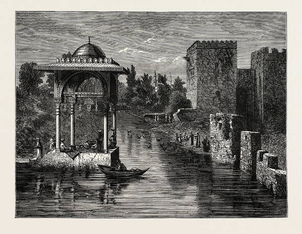 Ashes Drawing - View In The Environs Of Damascus by Litz Collection
