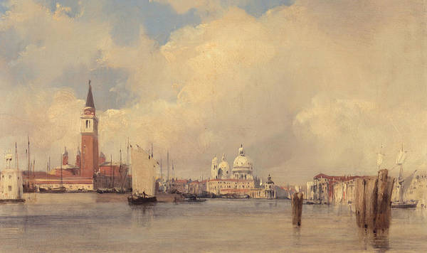 Wall Art - Painting - View In Venice by Richard Parkes Bonington