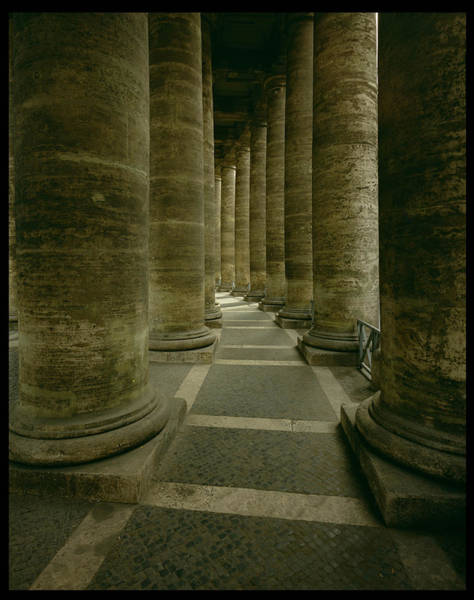 Saint Peters Square Photograph - View Inside The Colonnade Photo by Gian Lorenzo Bernini