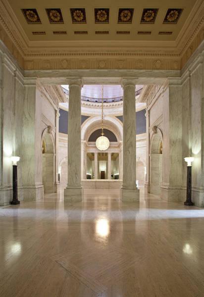 Rotunda Photograph - View Into Capitol Rotunda by Thorney Lieberman