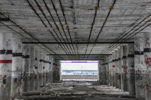 Wall Art - Photograph - View Into Packard Plant In Detroit  by John McGraw
