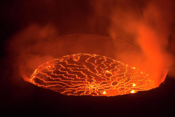 Lava Lakes Photograph - View Into The Heart Of Earth by Guenterguni