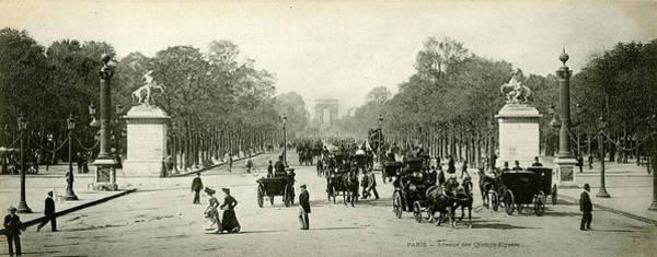 Wall Art - Photograph - View Looking Up The Avenue Des Champs by Mary Evans Picture Library