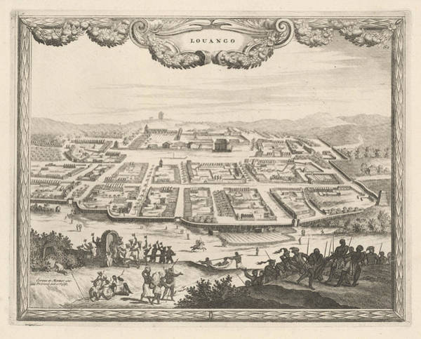 Wall Art - Drawing - View Louango In Brief, Thomas Doesburgh, Johannes Covens by Thomas Doesburgh And Johannes Covens And Cornelis Mortier