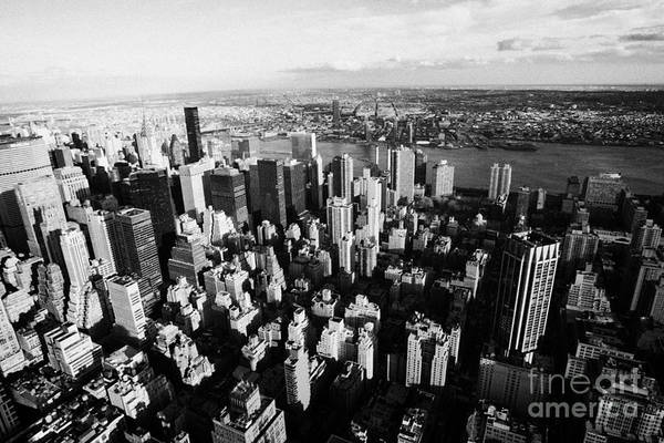 Reach For The Sky Wall Art - Photograph - View North East Of Manhattan Queens East River From Empire State Building by Joe Fox