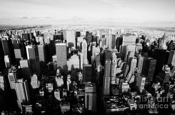 Reach For The Sky Wall Art - Photograph - View North Towards Central Park From New York City Usa by Joe Fox