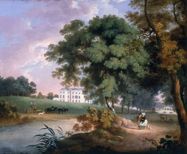 Rotunda Photograph - View Of A House In Ireland by William Ashford