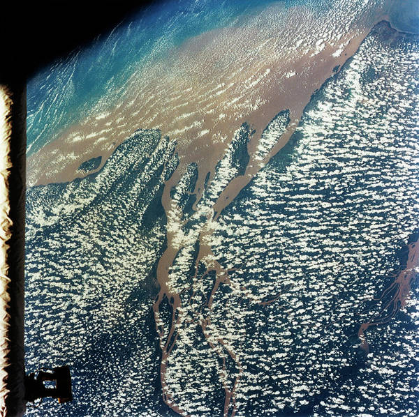 Wall Art - Photograph - View Of Amazon Delta by Nasa/science Photo Library