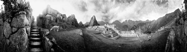 Cusco Photograph - View Of An Archaeological Site, Machu by Panoramic Images