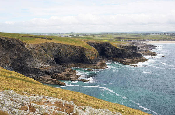 Exploration Photograph - View Of An Atlantic Coastline, Cornwall by Dougal Waters